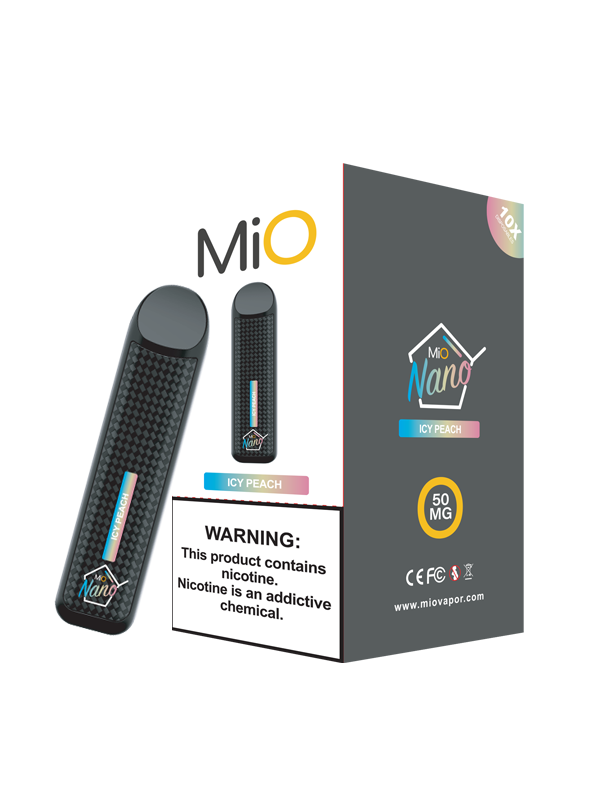 MiO Nano Icy Peach 50MG 10 Pack Sleeve