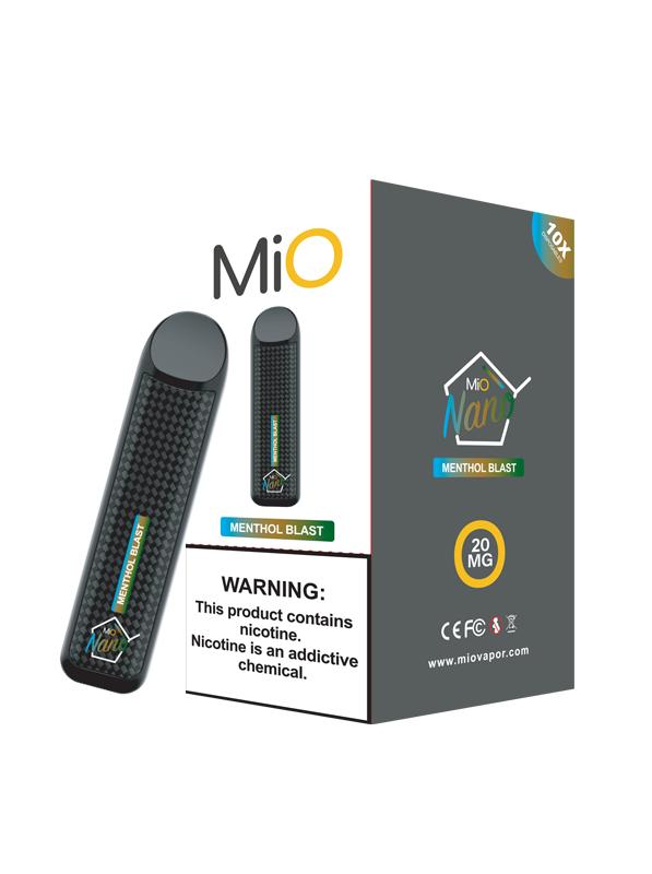 MiO Nano Menthol Blast 20MG 10 Pack Sleeve